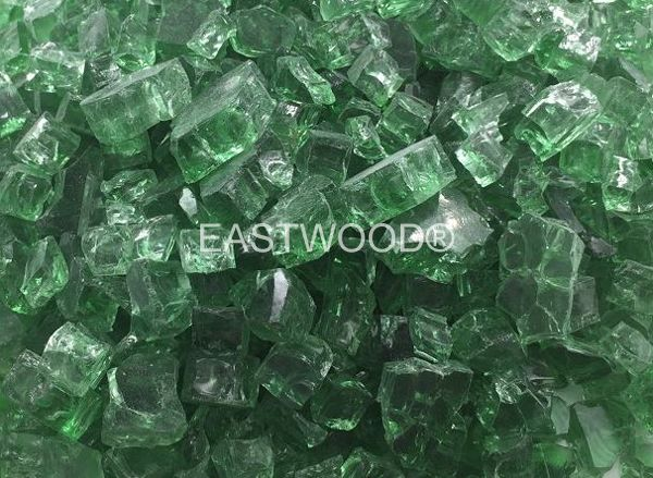 Emerald green Fire Glass