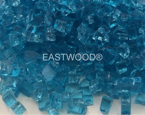 Caribbean Blue Fire Glass-