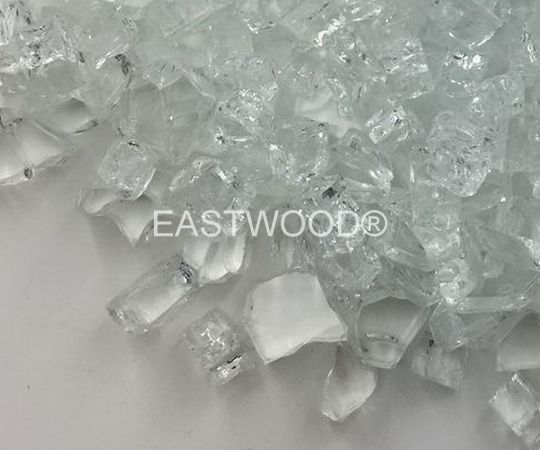Crystal White Fire Glass-