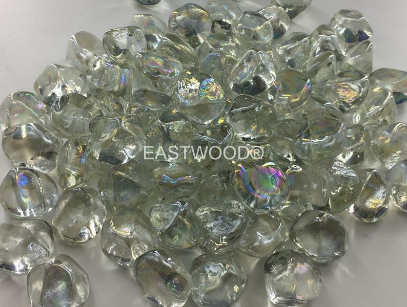 Mint diamond nuggets Fire Glass