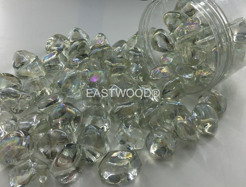Mint diamond nuggets Fire Glass-