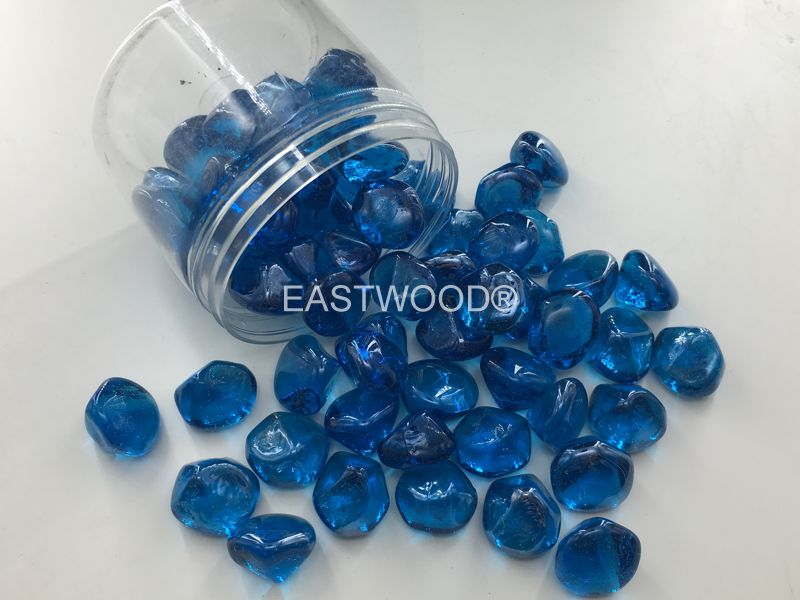 Ocean Blue diamond nuggets Fire Glass